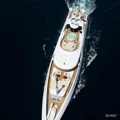 Andreas L Yacht Aerial View