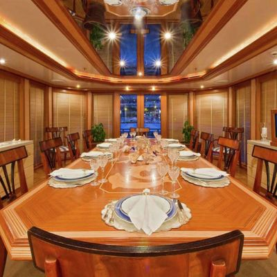 Sokar Yacht Upper Deck Dining Room