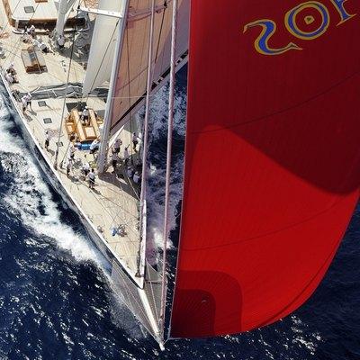 Athos Yacht Overhead - Bow