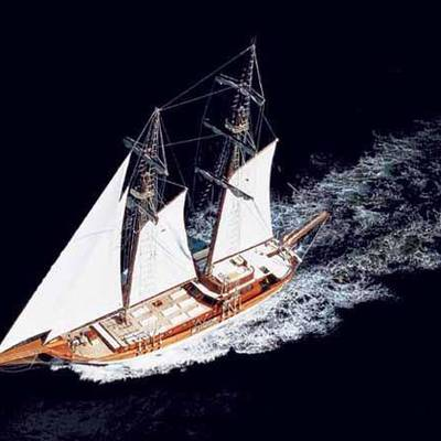 Matina Yacht Running Shot - Aerial