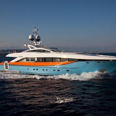Aurelia Yacht Running Shot - Profile