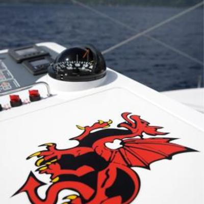 Red Dragon Yacht Exterior Detail