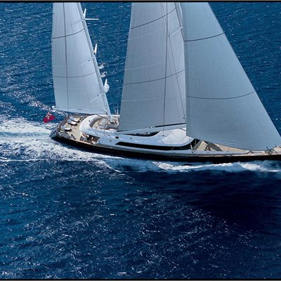 Parsifal III Yacht Aerial View - Side