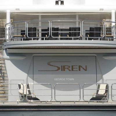 Siren Yacht Stern with Beach Club