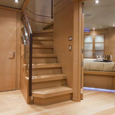 Escape II Yacht Lower foyer
