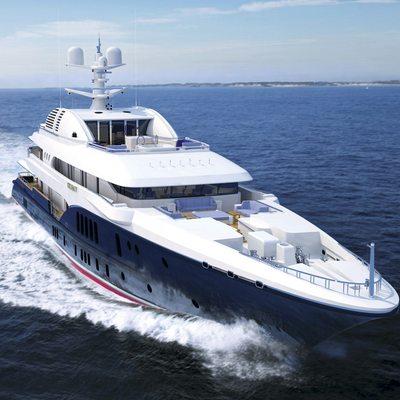 Sycara V Yacht Running Shot - Forward View