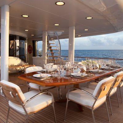 Sunrise Aft Deck Dining