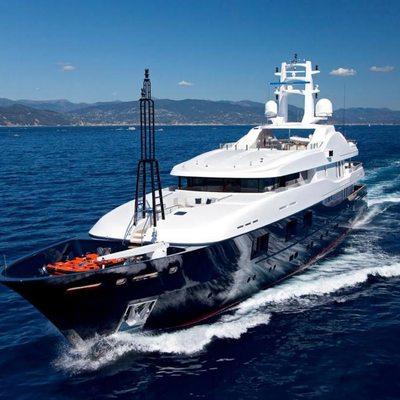 Baraka Yacht Running Shot - Front View