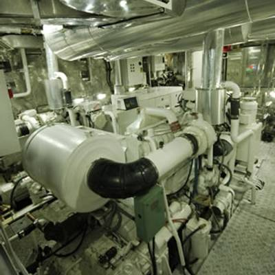 Kalizma Yacht Engine Room
