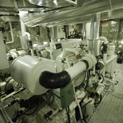 Kalizma Yacht Engine Room