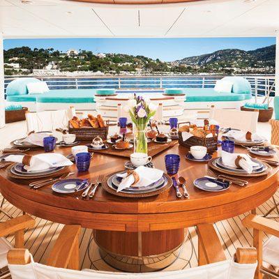 Baton Rouge Yacht Pool Deck - Breakfast Table