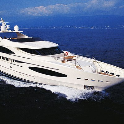 Princess Iolanthe Yacht Running Shot - Aerial
