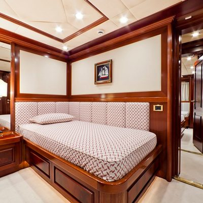 Sophie Blue Yacht Red Twin Stateroom
