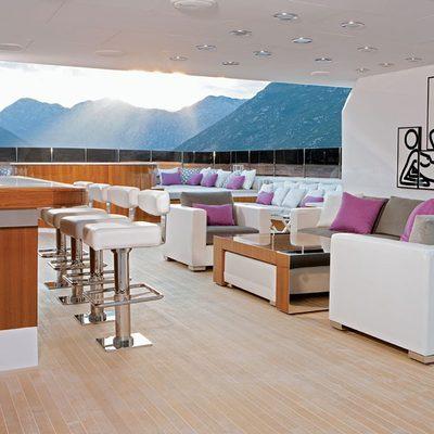 Carpe Diem Yacht Exterior Bar under Hardtop