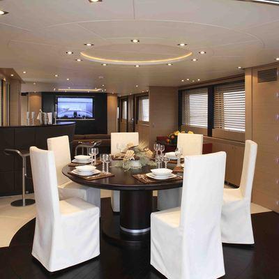 Hooligan II Yacht Dining Salon