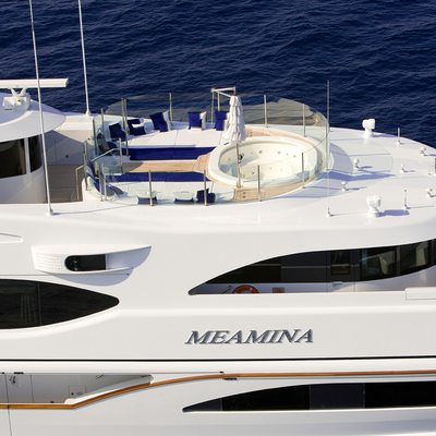 Meamina Yacht Close Side View