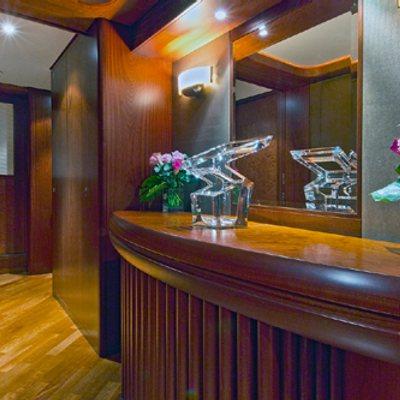 Solaia Yacht Lower Level Hallway