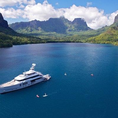 Big Fish Yacht Aerial