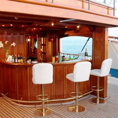 SS Delphine Yacht Exterior Bar