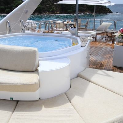Brunello Yacht Sun Deck Lounge