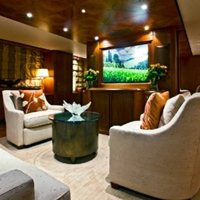 Solaia Yacht Main Salon and Hallway