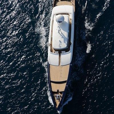 Galileo G Yacht Running Shot - Aerial View