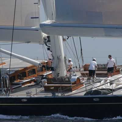 Athos Yacht Running Shot - Close