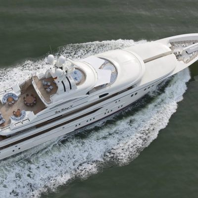 Lady Kathryn V Yacht Running Shot - Aerial