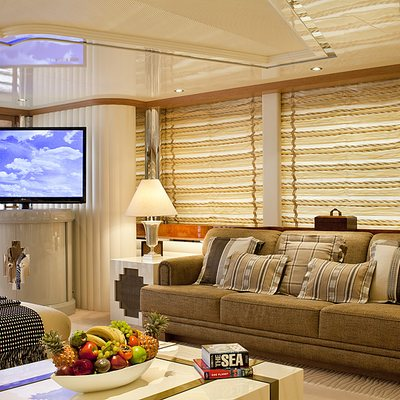 Eclipse Yacht Upper Deck Saloon - Screen