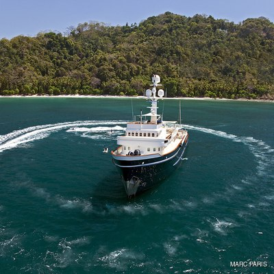 Seawolf Yacht Aerial View with Tender