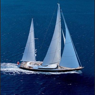 Parsifal III Yacht Running Shot - Side