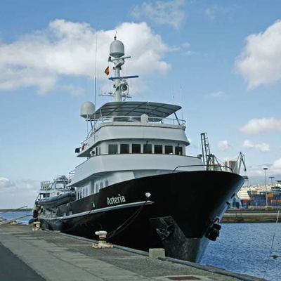 Asteria Yacht Moored