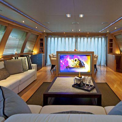 Escape II Yacht Salon looking aft