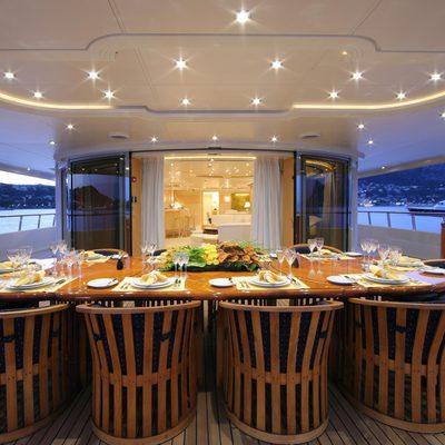Capri I Yacht Exterior Dining