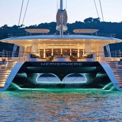 Hemisphere Yacht Aft - Night