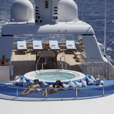 Megan Yacht Aerial View - Jacuzzi