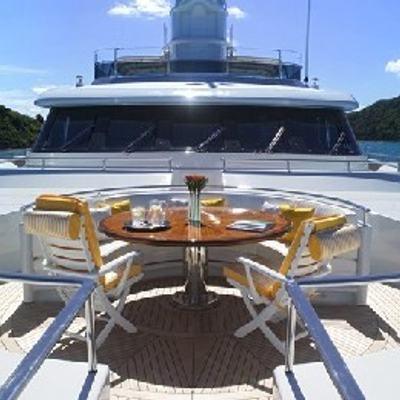 Olmida Yacht Forward Bridge Deck Dining