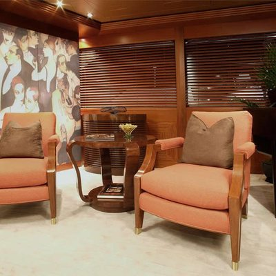 Perle Bleue Yacht Main Saloon - Seating