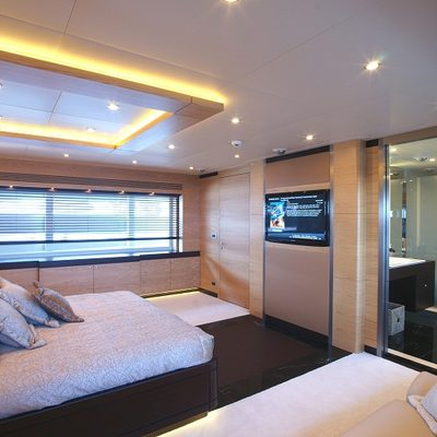 Tatiana Yacht White Guest Stateroom