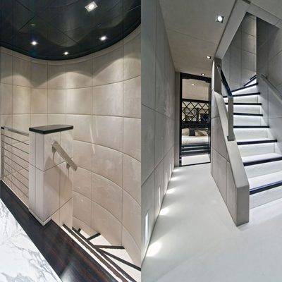 Seven S Yacht Hallway & Stairs