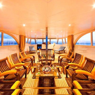Vela Yacht Upper Deck Dining