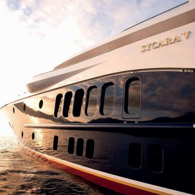 Sycara V Yacht Close Side View