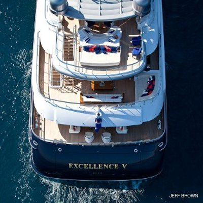 Arience Yacht Aerial Aft