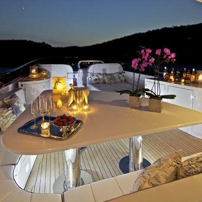 Marnaya Yacht Sundeck Night