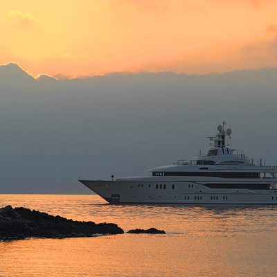 Lady Kathryn V Yacht Sunset