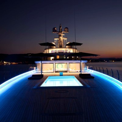 Air Yacht Foredeck at Night