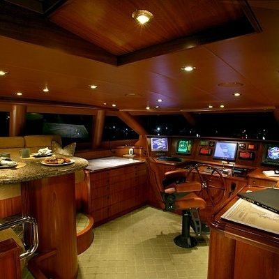 Joan's Ark Yacht Pilothouse