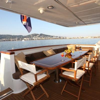 Daydream Yacht Aft Deck Dining