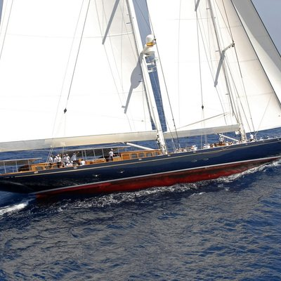 Athos Yacht Running Shot - Side