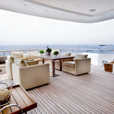 Mabrouk Yacht Aft Deck - Day